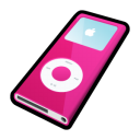 Ipod nano pink player mp3
