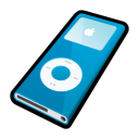 Ipod nano blue player mp3