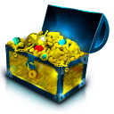 Chest gold treasure coins