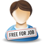 Free for job person