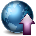 Globe earth upload world up increase internet network decrease arrow down
