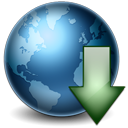 World globe earth decrease download down internet network arrow