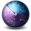 Scan world earth globe internet network mapp map clock