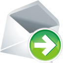 Email mail next right forward contact envelope arrow go
