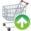 Shopping basket shoppingcart cart buy up upload increase arrow