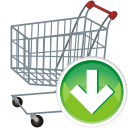 Shopping shoppingcart cart buy basket download decrease down arrow