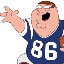 Peter griffin football zoomed sport ball