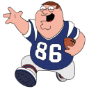 Peter griffin football sport ball