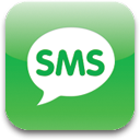 Sms social logo phone database sms blue directions email contacts