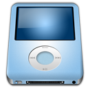 Ipod nano baby blue mp3 player alt