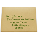 Letter log harry potter envelope
