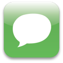 Chat social logo speech bubble
