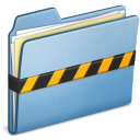 Blue security folder