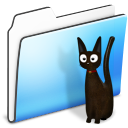 Cat folder smooth pet animal