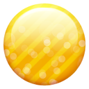 Gold button yellow ball