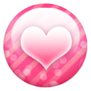 Pink button heart valentine fav love favourite