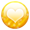 Gold button heart valentine love favourite fav