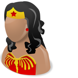 Wonder woman girl female customer user person face