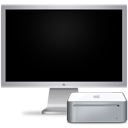 Cinema monitor display off mac mini hardware computer
