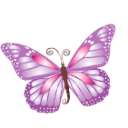 Purple butterfly animal emoticons hello kitty