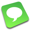 Chat social logo comments