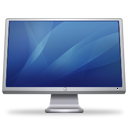 Cinema monitor display blue hardware