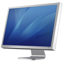 Cinema monitor display diagonal blue hardware