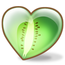 Kiwi love new zealand heart fruit green food