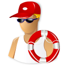 Lifeguard t swim smoking life saver