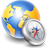 World globe earth compass silver internet network