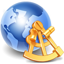Globe world earth sextant internet network