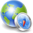 Network world globe internet earth compass map