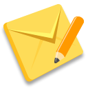 Mail email edit update pencil envelope contact communication