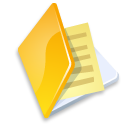 Folder doc file document documents yellow paper