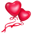 Love balloons hearts