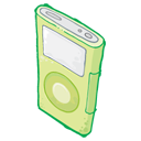 Ipod green player mp3