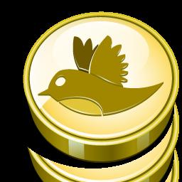 Twitter Money Bird Cash Coin Massive Twitter Icon Set 128px Icon Gallery