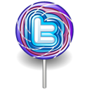 Twitter lollipop candy