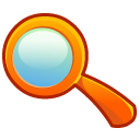 Magnify magnifying search zoom magnifier loupe find glass look eye