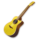 Music guitar yellow