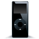 Black nano mp3 ipod player