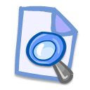 Doc file document files loupe magnifier magnify magnifying glass zoom find search paper look eye