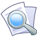 Doc file document magnifier magnify loupe magnifying glass zoom find search paper look eye