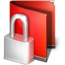 Private red folder locked encrypted