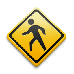 Public Walking Walkway Sign Antares 128px Icon Gallery