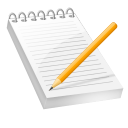 Notepad bloc notes writing paper edit content