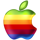 Rainbow apple retro