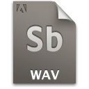 Document file secondary audio wav sb
