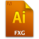 Icon document fxg 2 file secondary