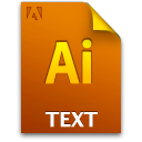 Ai textfile document icon file